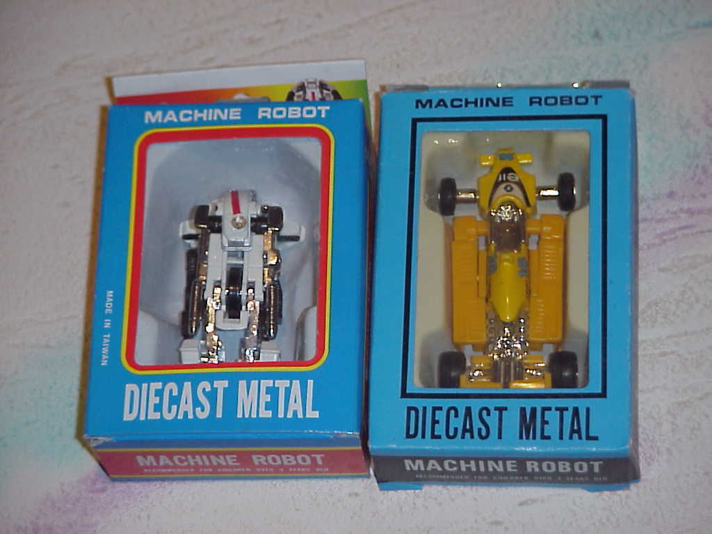 Machine Robot Transformer  Die-Cast Metal ( lot of 3 )