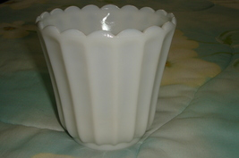 Milk White Vase - Depression - $8.00