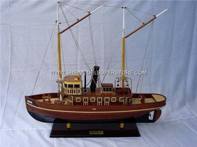 TUG BOAT SEGUIN WOOD MODEL SHIP    NEW