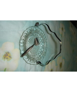 Vintage Glass Seafood Dish with Silvertone Fork  - $11.00
