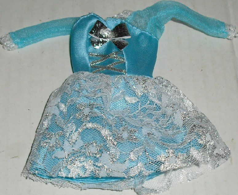 BARBIE doll Fashion Ave Party DRESS blue with lace