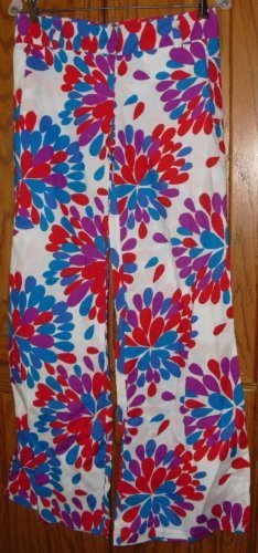 TOTEM lady wide leg pants colorful funky design size 1