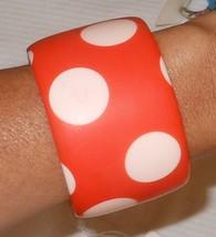 R Sobral Retired Matte Bright Orange Pink Polka Dot PB50 Bracelet Brazil... - $43.56