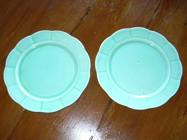 (2) Rare W.S. GEORGE  plates, 9 ½ inch; stamped.
