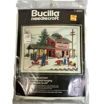 Bucilla Needlecraft Kit Crewel Cross Stitch Greenville Junction Train St... - $43.13