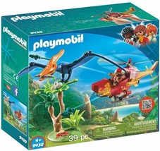 PLAYMOBIL Adventure Copter with Pterodactyl Building Set - $28.05