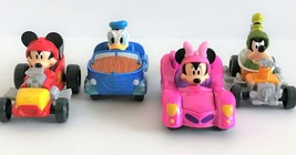 Disney Mickey & The Roadster Racers Set of 4 Die Cast Goofy Mickey Minnie Donald - $18.69