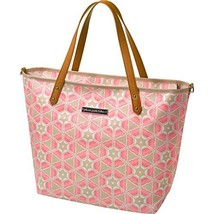 Petunia Pickle Bottom Downtown Tote Diaper Bag in Blooming Brixham, Pink by Petu