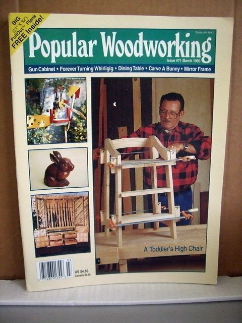 Popular Woodworking #71 March 1993 Toddler's High Chair