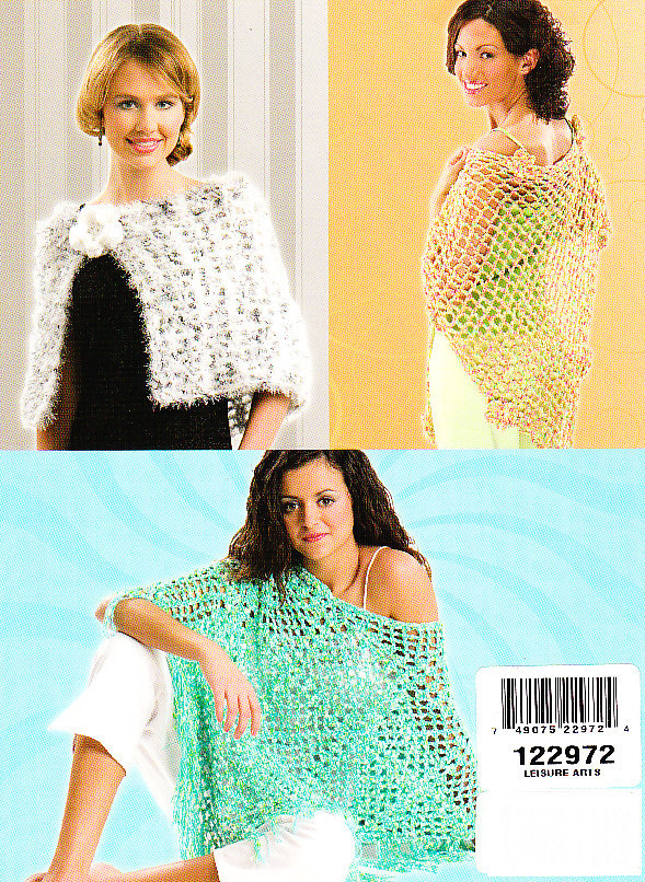 *Crochet - 6 - Easy Breezy Wraps - Designs to Create in a Hur