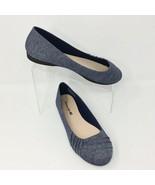 American Eagle Women's Cloth Ballet Flat, Size 9.5 W Blue Denim - $23.14