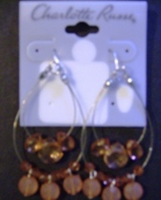 Charlotte Russe Beaded Earrings New With Tags