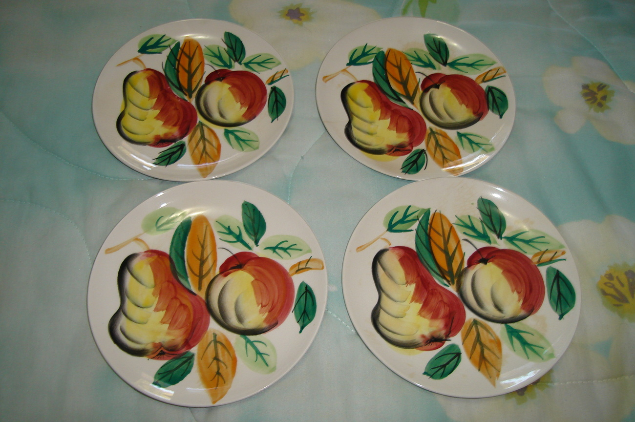 Painted Fruit Dishes - Set of 4