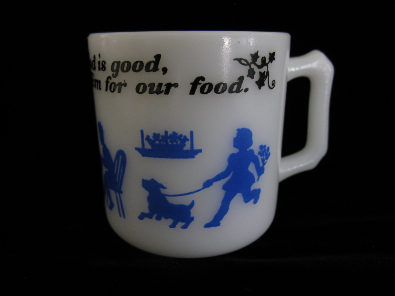 Hazel Atlas Child's Mug w/Prayer