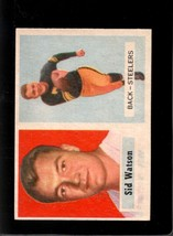 1957 Topps #75 Sid Watson Exmt Rc Rookie Steelers *XR16613 - $4.00