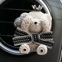 xuanpai Interior Car Air Diffuser Clip Little Teddy Bear Figure Air Out ... - $10.51