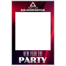 Red Nightclub Personalized Business Selfie Frame Poster - $16.34+
