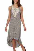 NEW Paper Doll Girls' Dress, Stripes Black and Ivory image 1