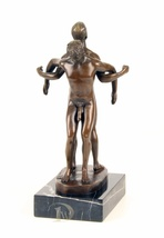 Antique Home Decor Bronze Sculpture, nude two man, Erotic Bronze *Free A - $269.00