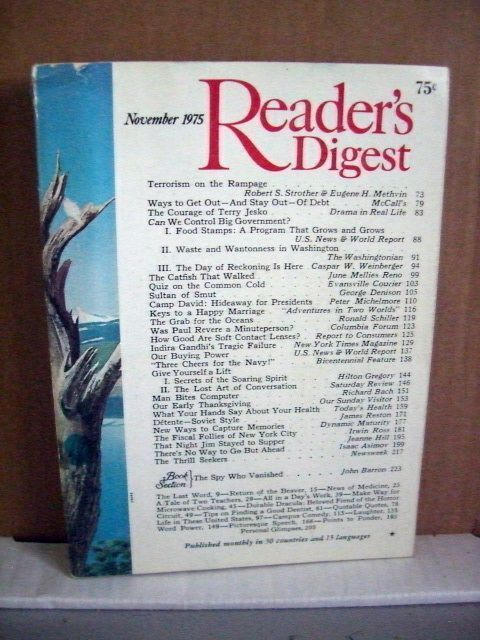 Reader's Digest November 1975 Camp David