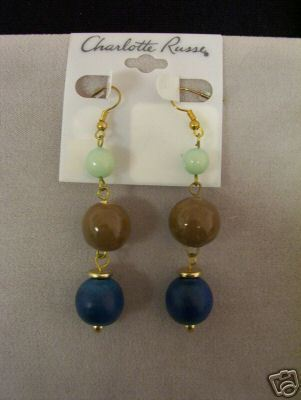 Charlotte Russe 3 Bead Dangle Earring Set