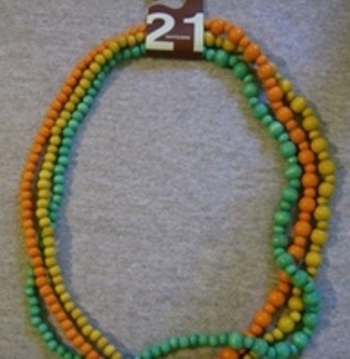 Twenty one 3 seperate beaded chain item    10