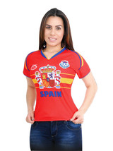 Spain Women Arza Soccer Jersey 100% Polyester. color Red and White - $24.99