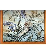 Fairy Resting Among Flowers Past Calender Print Framed - $5.99