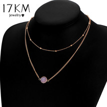 17KM® Boho Natural Crystal Choker Necklace For Women Multi Color Beads D... - $4.23