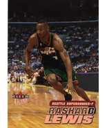2000-01 Fleer Ultra Rashard Lewis Sonics / Magic Wizards - $2.00