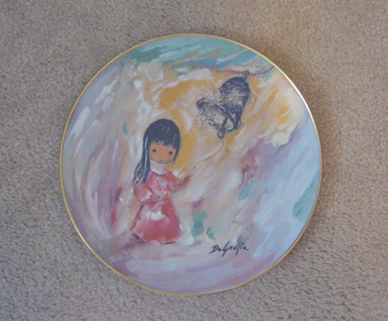 DeGrazia Bell of Hope Plate Collectors Limited Edition