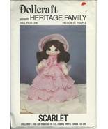 Scarlet Dollcraft Pattern Heritage Family Vintage Soft Doll w/ Clothes - $5.93