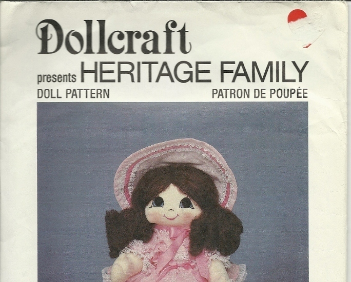Scarlet Dollcraft Pattern Heritage Family Vintage Soft Doll w/ Clothes