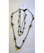 3 Strand Xhilaration Necklace Black Gray Silver Smoke  - $2.29