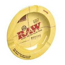 "RAW Rolling Papers Round Metal Ashtray - Size: 5.5"" X 5.5"" X .7"" - $9.49"