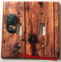 Rustic Barn Wood Door image Light Switch Outlet Wall Cover Plate Home Decor image 7