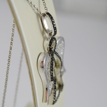925 SILVER NECKLACE WITH ANGEL PENDANT GIA89 BLACK & WHITE BY ROBERTO GIANNOTTI image 2