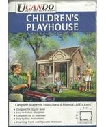 CHILDRENS PLAYHOUSE  / BLUE PRINT / INSTRUCTIONS- SUPPLY LIST - $9.95