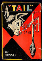TAIL The Donkey Game 1959 Card Game Original Box Directions  - $35.00