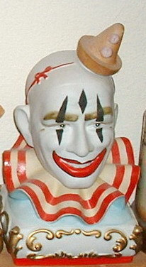 Clown Bust Decanter by Ezra Brooks