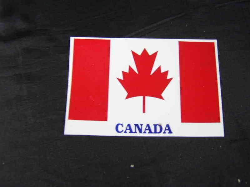 ROYAL ENFIELD~PAIR OF CANADA FLAG~STICKERS~BRAND NEW