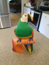 Balsa Wood Parrot: , Hand Painted, Carving - $28.04