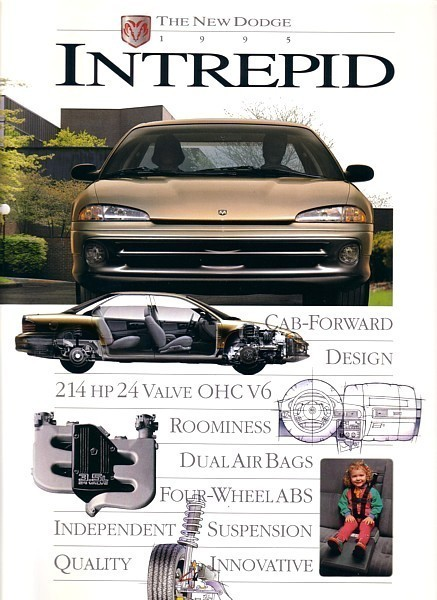 Primary image for 1995 Dodge INTREPID sales brochure catalog US 95 ES