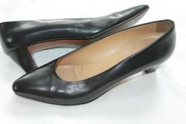Authentic Size 39 1/2 Gucci Black Leather Vtg Shoes Heels Pumps Us 9 - $79.20