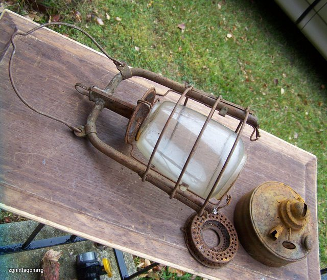 Antique Rare British Lantern Globe Only