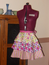 Retro Circle Apron with a Modern Flare in Pink - $20.00
