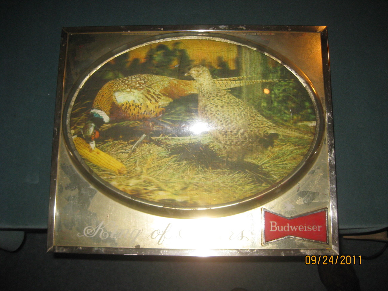 Lighted Dome Budweiser Pheasant Sign, 1950s