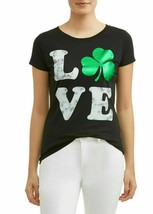 Women's St. Patrick's Day Lucky Graphic T-Shirt Tee Love Shamrock Size M... - $5.89