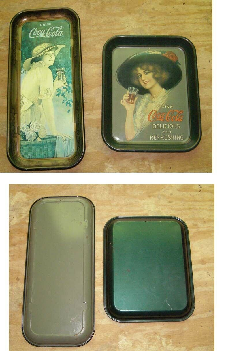 Primary image for Coca Cola Metal Tray Lot Reproductions Probably 1970s
