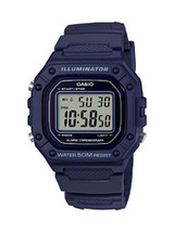 Casio Men's W218H-2A Blue Digital Watch - $22.04